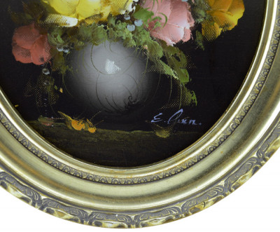 """Картина в овальной раме """"Розы в вазе"""", арт. 2345"""