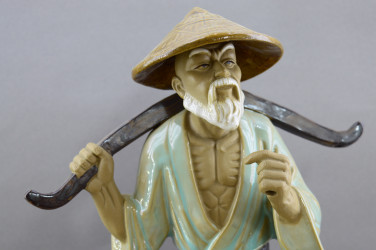 """Статуэтка """"Китаец. Рыбак с удочкой и ведрами"""", арт. 2370"""