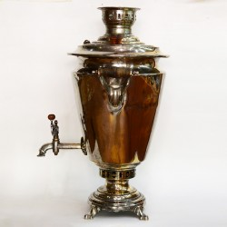 """Латунный самовар на дровах 5,5-6 литров форма """"Рюмка гладкая"""", арт. 2387"""