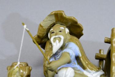 """Статуэтка Китаец """"Рыбак в лодке"""", арт. 2406"""