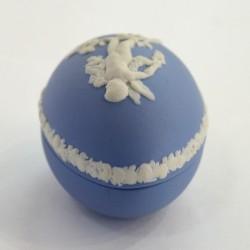 "Шкатулка в виде яйца ""Ангел Путти на веточке роз"" камея, арт. 2416"