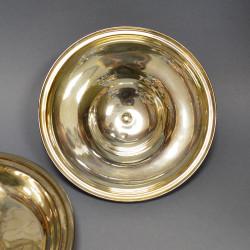 Блюдо с крышкой - менажница серебрение, арт. 2435