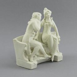 "Статуэтка ""Пара. Беседа"" барокко белая, арт. 2456"