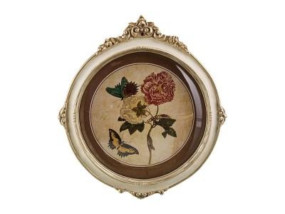 """Панно настенное 4шт. """"Ботаника и бабочки"""", арт. 2156"""