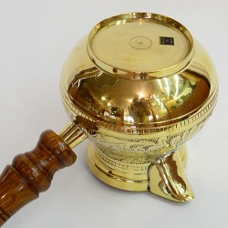 """Латунная турка в никеле 600мл. """"Луковица"""", арт. 2514"""