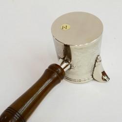 """Латунная турка в никеле 175мл. """"Стакан"""", арт. 2516"""