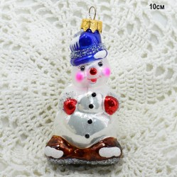 "Елочная игрушка ""Снеговик"" синий, арт. 5260 ID3769"