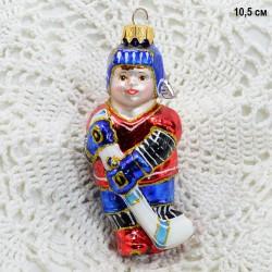 """Елочная игрушка """"Хоккеист"""" синий, арт. 3209 ID3747"""