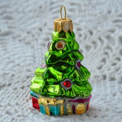 "Елочная игрушка ""Елочка с подарками"" арт. 5849 ID4263"
