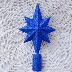 """Елочная верхушка """"Звезда"""" синяя арт. 5315 ID4526"""