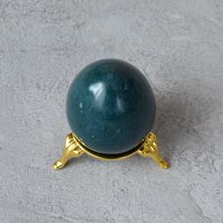 Яйцо 4,5*5,7см на подставке, камень зеленый, арт. 5523