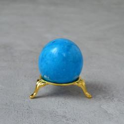 Яйцо 4,5*5,7см на подставке, камень голубой, арт. 5522