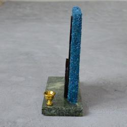"""Икона из змеевика на подставке """"Дева Мария. Семистрельная"""" 1 свеча 105*45*115мм. 340гр. арт. 5502"""