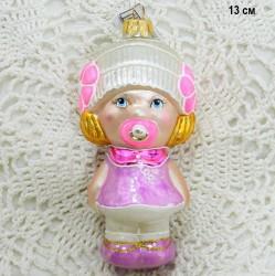 """Елочная игрушка """"Девочка с соской"""" большой, арт. 5260 ID3773"""