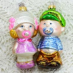"""Елочная игрушка """"Мальчик с соской"""" большой, арт. 5260 ID3772"""