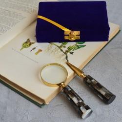 Лупа подарочная + нож для писем в бархатном футляре, арт. 5637