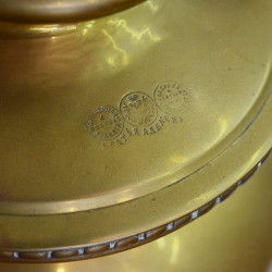 "Латунный самовар на дровах 5 литров редкая форма ""Арбуз"", арт. 2853"