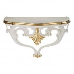 Консоль настенная, золото на белом, h47*57*18см, арт. 2883