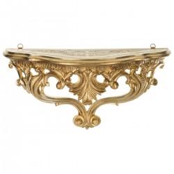 Консоль настенная, золото, h21*38*15см, арт. 2885