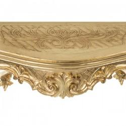 Консоль настенная, золото, h14*49*14см, арт. 2888