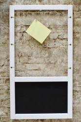 Магнитно - меловая доска с прищепками для фото, 36*60см, арт.4715