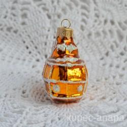 "Елочная игрушка ""Трамвай"" золото, арт. 5702 ID4464"