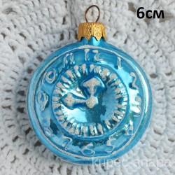 "Елочная игрушка ""Часы"" голубые арт. 5262 ID4282/4454"