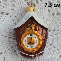 """Елочная игрушка """"Часы в снегу"""", арт. 1447 ID3851/4447"""