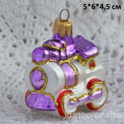 "Елочная игрушка ""Паровозик"" сиреневый, арт. 5702 ID4182/4462"