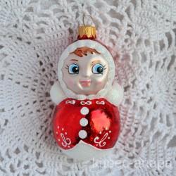 "Елочная игрушка ""Неваляшка"" красная, арт. 3209 ID2090/4487"