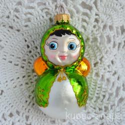 """Елочная игрушка """"Неваляшка"""" зеленая арт. 6024 ID2090/4488"""