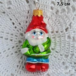 """Елочная игрушка """"Гном"""" зел/кр/гол., арт. 1447 ID1987/4478"""