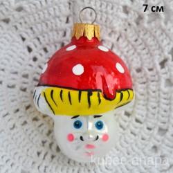 """Елочная игрушка """"Гриб мухомор"""" яркий арт.5872. ID4472"""