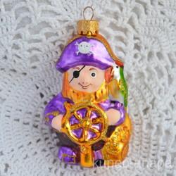 """Елочная игрушка """"Пират"""" сиреневый арт. 5260 ID4497"""