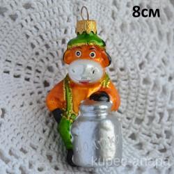 "Елочная игрушка ""Бык бидоном молока"" зелен. арт. 3208 ID4500/4501"
