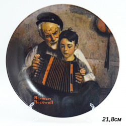 """Тарелка декоративная настенная """"The musik maker"""" 21,8см, арт. 3023/1"""