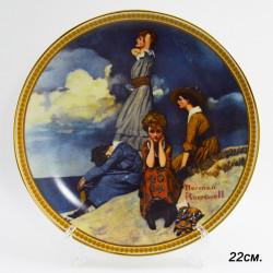 """Тарелка декоративная настенная """"Waiting on the shore"""" 22см, арт. 3023/2"""