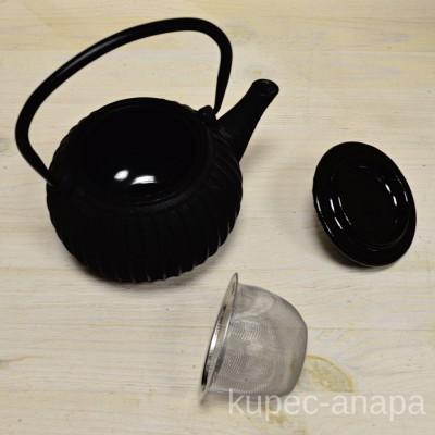 Чайник заварочный чугунный с ситечком, 500мл., арт. 3025