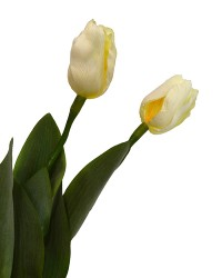 """Набор цветов искусственных из 3шт. """"Тюльпан Кореопсис"""" белый 64см, арт. 3061"""