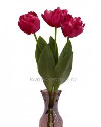 """Набор цветов искусственных из 3шт. """"Тюльпан Волна"""" малиновый 60см, арт. 3062"""