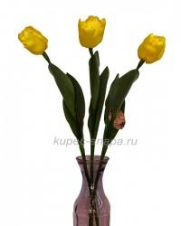 """Набор цветов искусственных из 3шт. """"Тюльпан Кореопсис"""" желтый 64см, арт. 3063"""