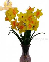 """Набор цветов искусственных из 3шт. """"Нарцисс"""" желтый 60см, арт. 3069"""