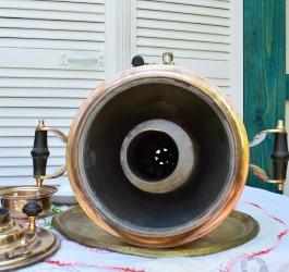 """Латунный самовар на дровах 6-7 литров форма """"Рюмка гладкая"""", арт. 2387"""