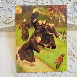 """Ретро открытка """"Охота на лису"""", арт. 3137/4650"""