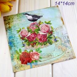 "Ретро открытка ""Букет"", арт. 3137 (ID3002)"