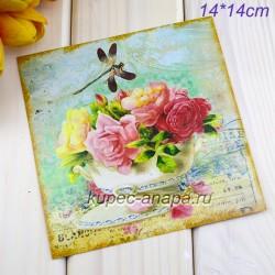 "Ретро открытка ""Букет"", арт. 3137 (ID3003)"
