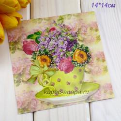 "Ретро открытка ""Букет"", арт. 3137 (ID3004)"