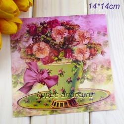 "Ретро открытка ""Букет"", арт. 3137 (ID3006)"