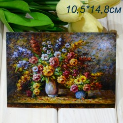 "Ретро открытка ""Букет в вазе"", арт. 3137 (ID3017)"