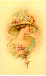 """Ретро открытка """"Комплимент"""", арт. 3137 (ID1090)"""